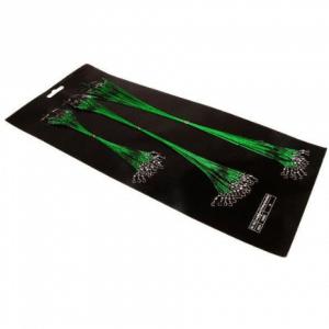 60 x Stalen Onderlijnen Roofvis 15 - 25 - 30 cm Groen Snoek Snoekbaars Onderlijntjes Staal Kunstaas (Merkloos)