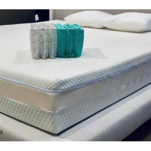 SleepNext Luxe Micro-Pocket 1000 + traagschuim matras - 90x200cm