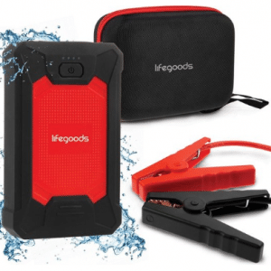 LifeGoods 3-in-1 Jump Starter met Powerbank