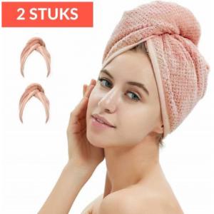Holy Shibby 2 Stuks Haar handdoeken sneldrogend om overtollig water te absorberen
