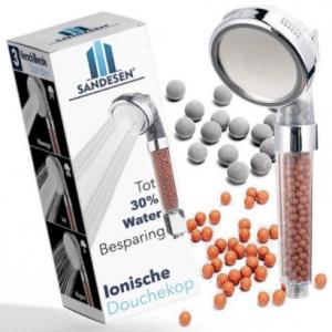 Ionische douchekop, hoge druk, waterbesparend, met 3 douchemodi (Merkloos)